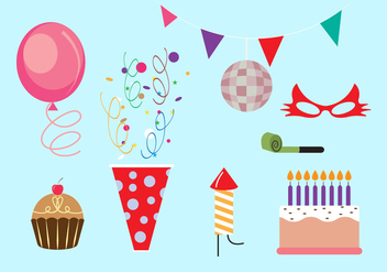 Set of Party Elements in Vector - Kostenloses vector #336659
