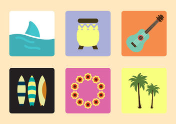 Hawaiian Vector Icons - Free vector #336669