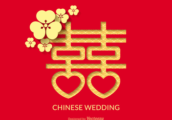 Free Chinese Wedding Vector Design - бесплатный vector #336719