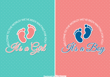 Free Baby Arrival Vector Cards - vector gratuit #336729