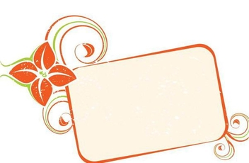 Orange Swirling Frame Banner - vector gratuit #336879