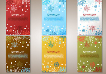 6 Christmas Greeting Cards - vector gratuit #336989