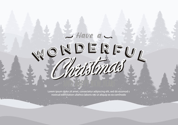 Free Christmas Background Illustration with Typography - vector gratuit #337239