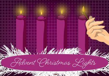 Free Christmas Candle Vector Background - Kostenloses vector #337289