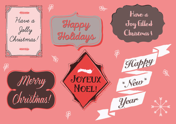 Free Christmas Background Illustration with Typography - vector gratuit #337319