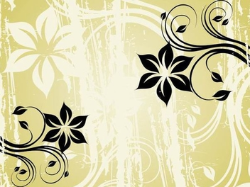 Black Swirls Grungy Green Background - vector gratuit #337359