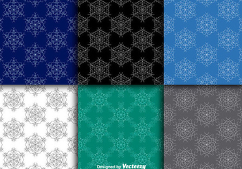 Seamless Snowflake Pattern Pack - Free vector #337409