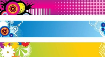 Colorful Abstract Banner Pack - vector gratuit #337419