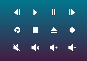 Button Music Vector - бесплатный vector #337629