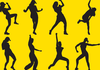 Zumba Silhouettes - Free vector #337659