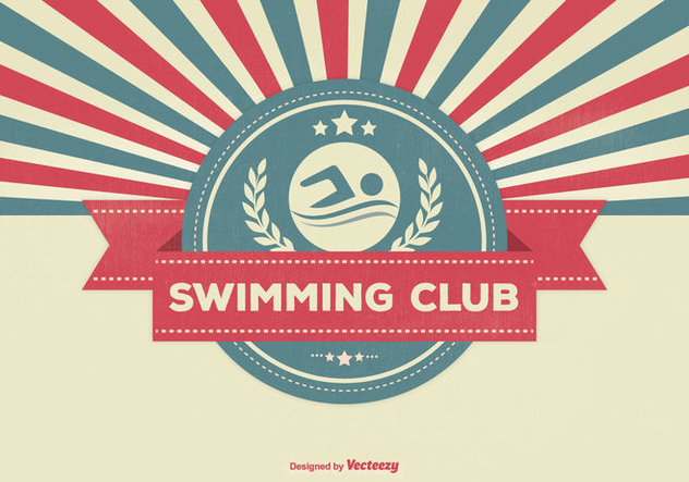Swimming Club Retro Illustration - Free vector #337669