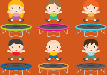 Trampolines - Free vector #337699