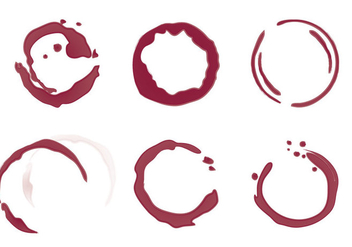 Free Wine Stain Vector Illustration - Free vector #337949