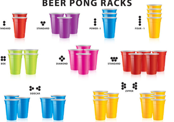 Beer Pong Racks - vector gratuit #337969