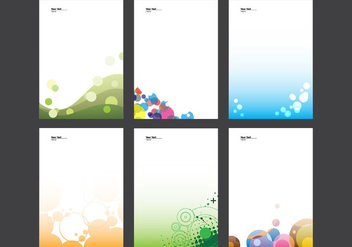 Letterhead With Circle Design Vector - Kostenloses vector #337989