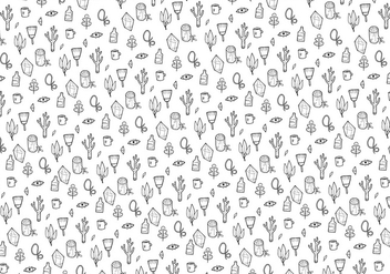 Plants and Gems Pattern Vector - Free vector #338009