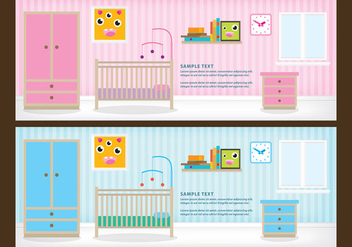 Children Rooms - vector gratuit #338029