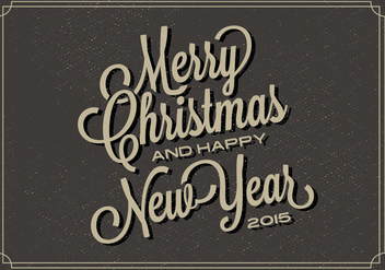 Free Christmas Typography Vector Backgorund - vector gratuit #338039