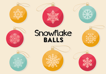 Free Decorative Christmas Balls Vector - vector gratuit #338049