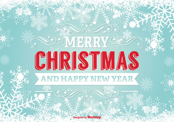 Merry Christmas Illustration - Free vector #338119