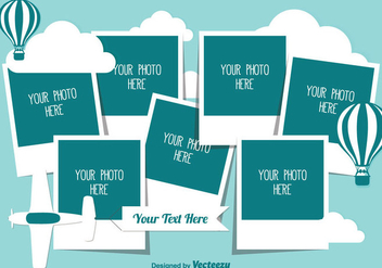 Cute Photo Collage Template - vector gratuit #338139