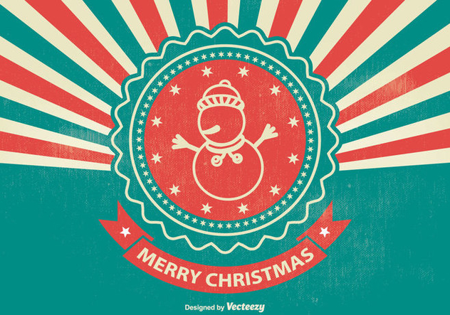 Vintage Style Christmas Illustration - бесплатный vector #338169