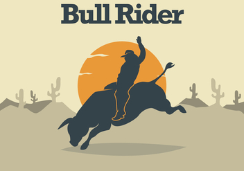 Bull Rider Illustration - Free vector #338399