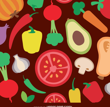 Vegetables flat background - vector gratuit #338439