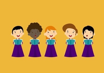 Choir Vector Characters - бесплатный vector #338669
