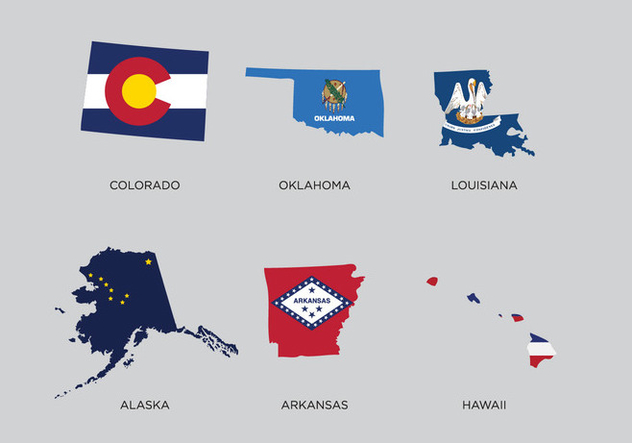 State Outlines Vector - vector gratuit #338759