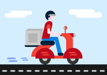 Free Delivery Boy Vector - бесплатный vector #338839
