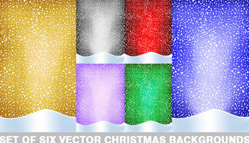 Christmas background collection - Free vector #339059