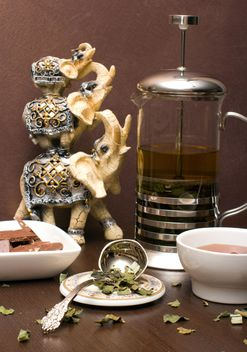 Green tea and chocolate - image gratuit #339219