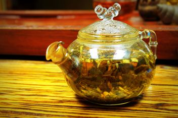 Tea in glass teapot - image gratuit #339229