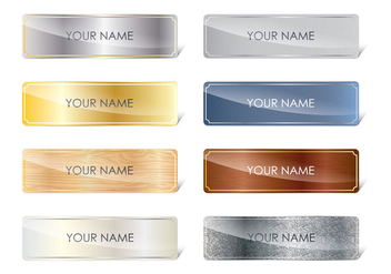 Basic Name Plates - vector #339279 gratis