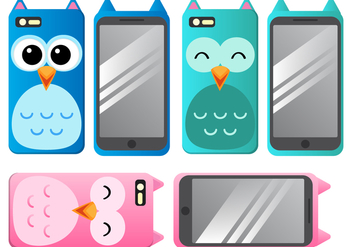 Phone case vectors - vector gratuit #339299