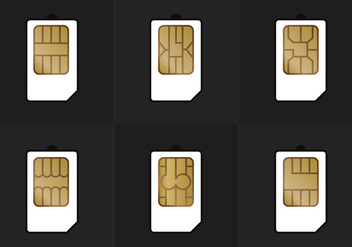 SIM Card Types Vector - Free vector #339349