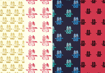 Double Happiness Vector Patterns - vector gratuit #339369
