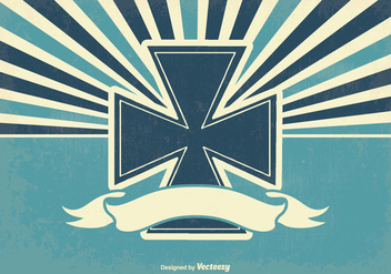 Retro Maltese Cross Illustration - Free vector #339429