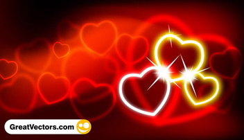 Abstract valentine's day background - vector #339589 gratis