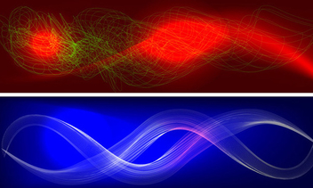 Colorful wavy backgrounds - vector gratuit #339599