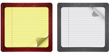 Notepaper With Leather - бесплатный vector #339779