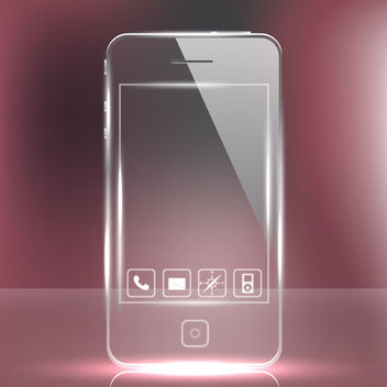Futuristic Glass Phone - vector gratuit #339809