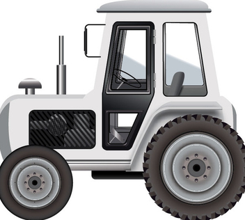 White Tractor - Free vector #339829
