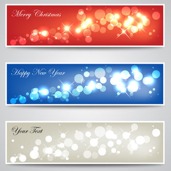 Christmas & New Year Banners - бесплатный vector #339859