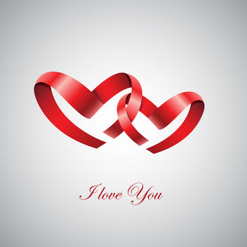 Two Ribbon Hearts - vector gratuit #339869
