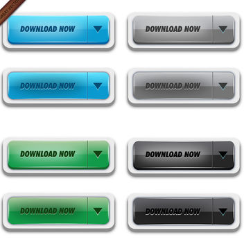 Glossy Vector Download Buttons - Free vector #339929