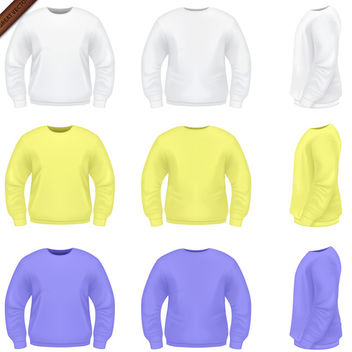Vector Mens Sweater Templates - vector gratuit #340029