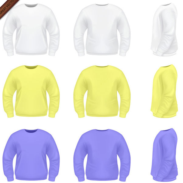 Vector Mens Sweater Templates - Free vector #340029
