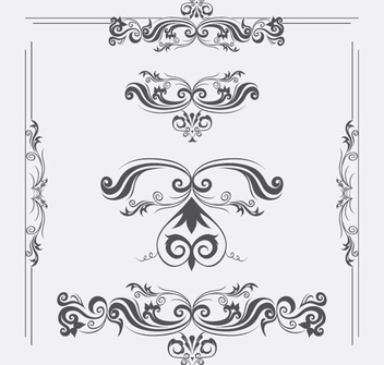 Vector Ornaments - vector gratuit #340129